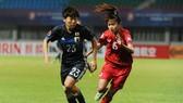 Các cô gái Nhật Bản quá mạnh so với Việt Nam. Ảnh: VFF