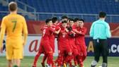 Niềm vui của các cầu thủ U23 Việt Nam. Ảnh: ANH KHOA