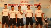 Đội vô địch năm 2017 trong phần giao lưu lại buổi họp báo