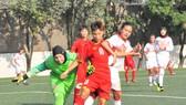 Đội U16 Việt Nam thắng áp đảo Bahrain. Ảnh: Nhật Đoàn