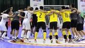 Niềm vui chiến thắng của các cầu thủ Thái Sơn Nam