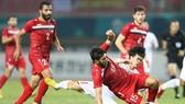 Olympic Việt Nam trong trận so tài cùng Syria ở Asiad 18. Ảnh: DŨNG PHƯƠNG