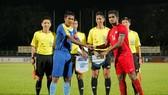 Trọng tài Mohd Amirul Izwan Yaacob trong lần điều khiển trận Malaysia - Campuchia