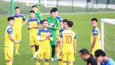 Đội tuyển Việt Nam hướng đến chiến thắng trước Thái Lan. Ảnh: Minh Hoàng