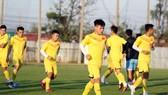 U23 Việt Nam trên sân tập chiều 7-1. Ảnh: Đoàn Nhật
