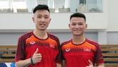 Mih Trí và Thái Huy đã về hội quân cùng đội tuyển. Ảnh: Đoàn Nhật