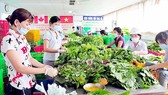 A place for preliminary processing of vegetables of Phuoc An Cooperative in Ho Chi Minh City. (Photo: SGGP)