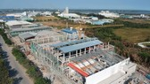 A paper mill is under construction in Hiep Phuoc Industrial Park in Ho Chi Minh City. (Photo: SGGP)