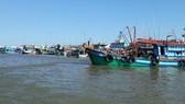 Many fishing boats in Mekong Delta stay ashore