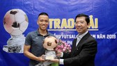 Trao Giải thưởng Quả bóng đồng Futsal 2019 cho cầu thủ Phạm Đức Hòa