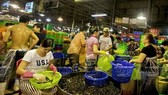 Part of the seafood section at the Binh Dien wholesale market (Photo: VNA)