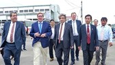 The EP delegation at Quy Nhon seaport (Source: cand)