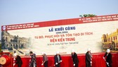 Groundbreaking ceremony of construction of Kien Trung Palace in the Hue Imperial Citadel  (Photo: Sggp)