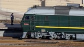 It was not known whether Kim Jong-un was on board the train. (Source: AFP)