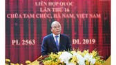 Prime Minister Nguyen Xuan Phuc speaks at the event. (Photo: Sggp)