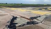 Damaged runways in Noi Bai Aiport