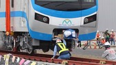 Metro coaches placed on tracks