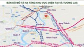A map showing the Bien Hoa-Vung Tau expressway project