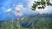 The 500kV substation and 220/500kV transmission line combined with Trung Nam Thuan Nam solar power plant in Ninh Thuan province. (Photo courtesy of Trung Nam)