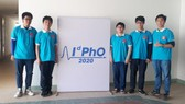 Members of the Vietnamese team at the International distributed Physics Olympiad - IdPhO 2020