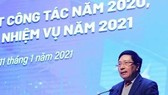 Deputy Prime Minister and Minister of Foreign Affairs Pham Binh Minh speaks at the conference (Photo: VNA)
