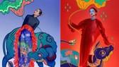 Miss Universe Vietnam 2017, H'Hen Nie honors Dong Ho folk painting