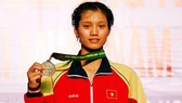 Nguyen Thi Tam -  the first Vietnamese female boxer won a  gold medal at the Asian Women's Boxing  Championships in 2017 (Photo: VNA)