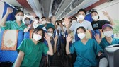 Bac Giang medical staff before departure (Photo: VNA)