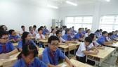 Học sinh Trường THCS Trần Huy Liệu (quận Phú Nhuận) trong một giờ lên lớp