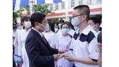 Chủ tịch UBND TPHCM Nguyễn Thành Phong dự lễ khai giảng tại Trường THPT Mạc Đĩnh Chi