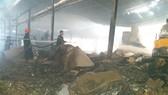 Lực lượng PCCC có mặt tại hiện trường kịp thời dập tắt đám cháy