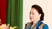 Chủ tịch Quốc hội Nguyễn Thị Kim Ngân phát biểu tại buổi lễ