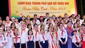 Lãnh đạo TPHCM gặp gỡ 170 thiếu nhi nhân dịp đầu xuân 2018