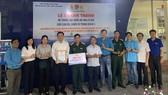 Đoàn trao hệ thống nước lọc tặng cán bộ, chiến sĩ tại tỉnh Tây Ninh