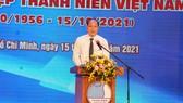 Phó Bí thư Thành ủy TPHCM Nguyễn Hồ Hải phát biểu tại lễ kỷ niệm. Ảnh: DŨNG PHƯƠNG