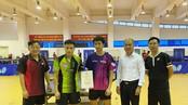 Hai tay vợt giành HCV đôi nam tại SEA Games 30-2019 nhận thưởng sau 2 năm. Ảnh: MINH CHIẾN