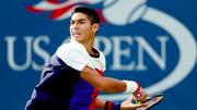 Tay vợt Thái Sơn Kwiatkowski thi đấu ở giải Mỹ mở rộng.