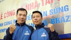 Xạ thủ Trần Quốc Cường (phải) được ISSF điền tên trong danh sách tính chuẩn của ISSF.