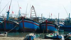 Quảng Ngãi: Hàng trăm tàu cá chưa xuất bến đầu năm vì luồng lạch bồi lấp