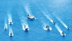 Các tàu chiến của Mỹ, Nhật Bản và Australia trong một cuộc tập trận  tại vùng biển Philippines năm 2020