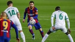 Lionel Messi vẫn đang phải nỗ lực tối đa trong mọi trận đấu của Barca.