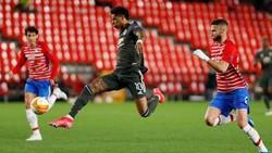 Marcus Rashford xuất sắc ghi bàn giúp Man.United tiến gần bán kết. Ảnh: Getty Images