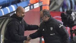 HLV Marcelo Bielsa đánh giá rất cao đồng nghiệp tài ba Pep Guardiola. Ảnh: Getty Images