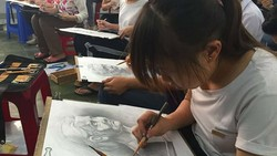 Thí sinh thi năng khiếu trực tuyến do Trường ĐH Nguyễn Tất Thành  tổ chức tháng 6 và tháng 7. Ảnh: HOÀNG HÙNG