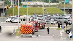 Vụ tấn công xảy ra tại một bến đợi xe buýt bên ngoài trụ sở Lầu Năm Góc. Ảnh: AP