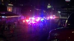 Cảnh sát có mặt tại hiện trường vụ nổ súng. Ảnh: Kxan