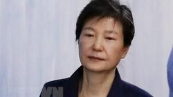 Cựu Tổng thống Hàn Quốc Park Geun-hye tới một phiên tòa ở Seoul. Ảnh: Yonhap/TTXVN