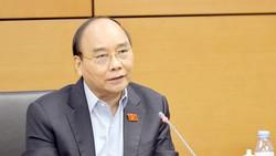 Chủ tịch nước Nguyễn Xuân Phúc phát biểu tại tổ. Ảnh: VIẾT CHUNG