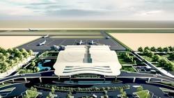 Một phương án thiết kế sân bay Quảng Trị được tư vấn TEDI báo cáo tại cuộc họp.