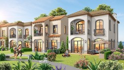 Phối cảnh những căn biệt thự với kiến trúc tinh tế theo phong cách Địa Trung Hải, lấy thiên nhiên làm trọng tâm của biệt thự đồi giáp biển The Tropicana.